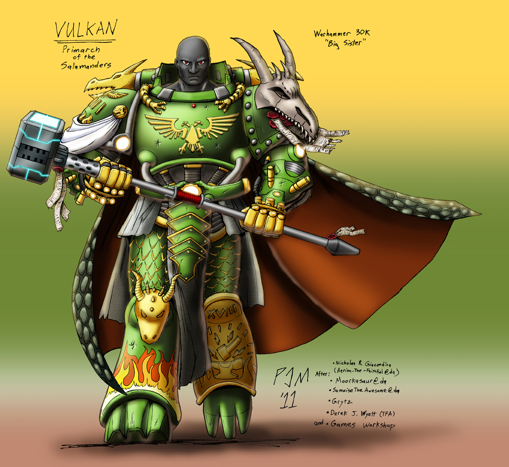 Vulkan primarch of the salamanders by philip moyer