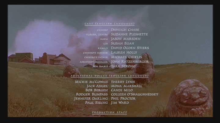 Spirited Away Credits ...